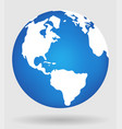 earth globe flat planet icon vector image