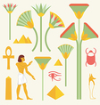 Egyptian symbols and signs vector image