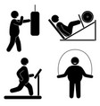 fat man fitness training body building healthy vector image