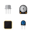 flat icon technology set of transducer resist vector image vector image
