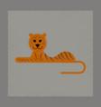 flat shading style icon cartoon tiger vector image vector image