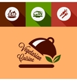 flat vegetarian cuisine design elements vector image vector image