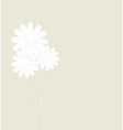 Flowers made of paper on a green background vector image vector image