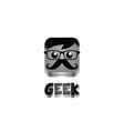 geek guy avatar portrait vector image