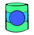 green plastic jar icon icon cartoon vector image vector image