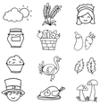 Hand draw thanksgiving element on doodles vector image vector image