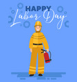 happy labor day poster or greeting card design vector image vector image