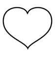 heart with end icon outline black color vector image vector image
