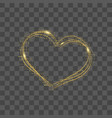 heart with gold dots and confetti vector image