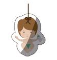 Isolatd baby boy design vector image