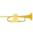 isolated trumpet icon musical instrument vector image