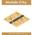 isometric modules for construction vector image vector image