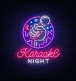 karaoke night neon sign luminous logo