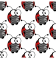 Ladybug seamless background pattern vector image