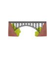 large metal bridge iron construction for vector image