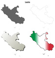 Lazio blank detailed outline map set vector image vector image