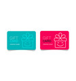 loyalty card incentive gift collect bonus earn vector image vector image