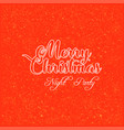 merry christmas night party glitter background vector image vector image