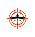 mosquito insect repellent zika logo vector image vector image