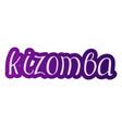 pair dance kizomba vector image vector image