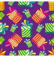 Pattern with gifts vector image vector image