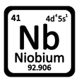 Periodic table element niobium icon vector image vector image