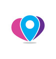 pin location travel logo vector image vector image