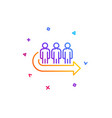 queue line icon people waiting sign vector image vector image