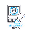 recruitment agency concept outline icon linear vector image