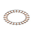 round railway track isolated on white background vector image vector image