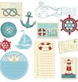 scrapbook sea elements vector image