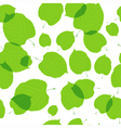 Seamless pattern of green leaves on the white vector image vector image