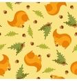 Seamless pattern with a picture of squirrels vector image