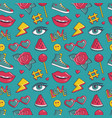 seamless pattern with retro patches vector image