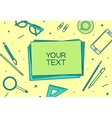 set linear business office top view desk vector image