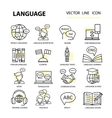 Set modern linear icons on the topic of learning a vector image vector image