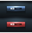 set two glossy buttons vector image