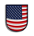 shield with flag united states of america colorful vector image vector image