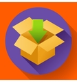 Shipping and packing icon Flat design style vector image