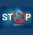stop coronavirus covid-19 design banner vector image