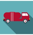 Tank truck icon flat style