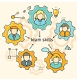 team skills banner avatar in gear