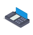 Terminal card icon isometric 3d style vector image vector image