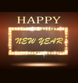 the new year greeeting banner with retro light vector image vector image