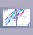 trendy vibrant gradient report cover vector image vector image