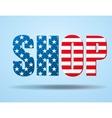 Typography Internet Logo USA shop vector image vector image