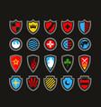 vintage victorian shields set vector image vector image