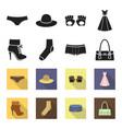 women boots socks shorts ladies bag clothing vector image