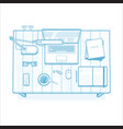 workplace lined minimalist vector image
