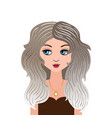 zodiac young beautiful girl in doodle vector image vector image
